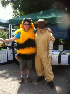 Melvin and Fiona from Oxford friends of the earth at Cowley Carnival